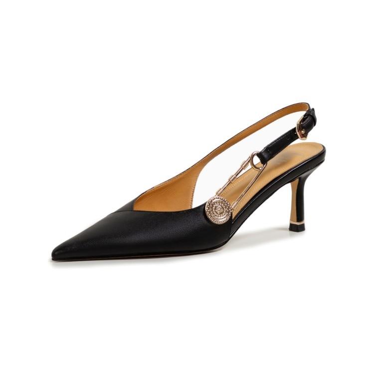 مصمم أحذية أنيقة السيدات الفاخرة ماركة ميدوسا الملكة عالية الكعب مثير السيدات أشار تو 8 سنتيمتر الكعوب الخنجر حجم 34-42 جديد