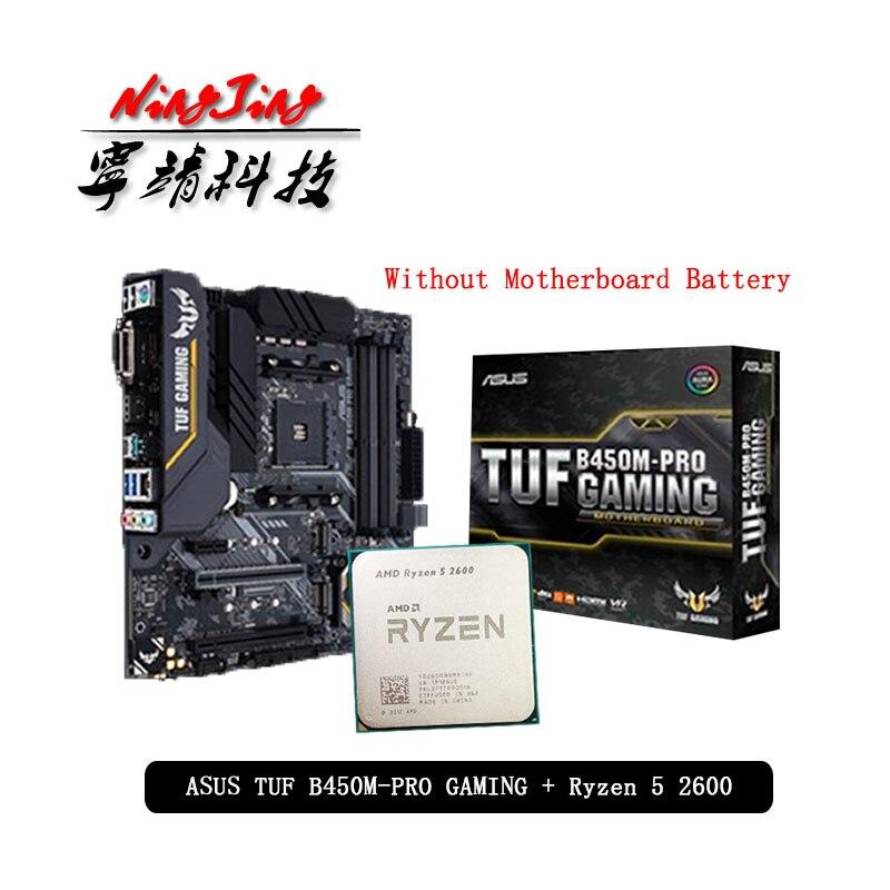 Carte mère AMD Ryzen 5 2600 R5 2600, CPU + ASUA TUF B450M PRO GAMING, sans refroidisseur