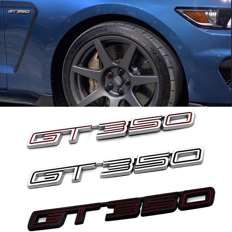 Insignia de aleación para GT350 Stage 3 para Ford GT 350 Mustang Shelby Fiesta Sport Coupe, pegatina 3D para maletero lateral, pegatina Exterior de reequipamiento de coche