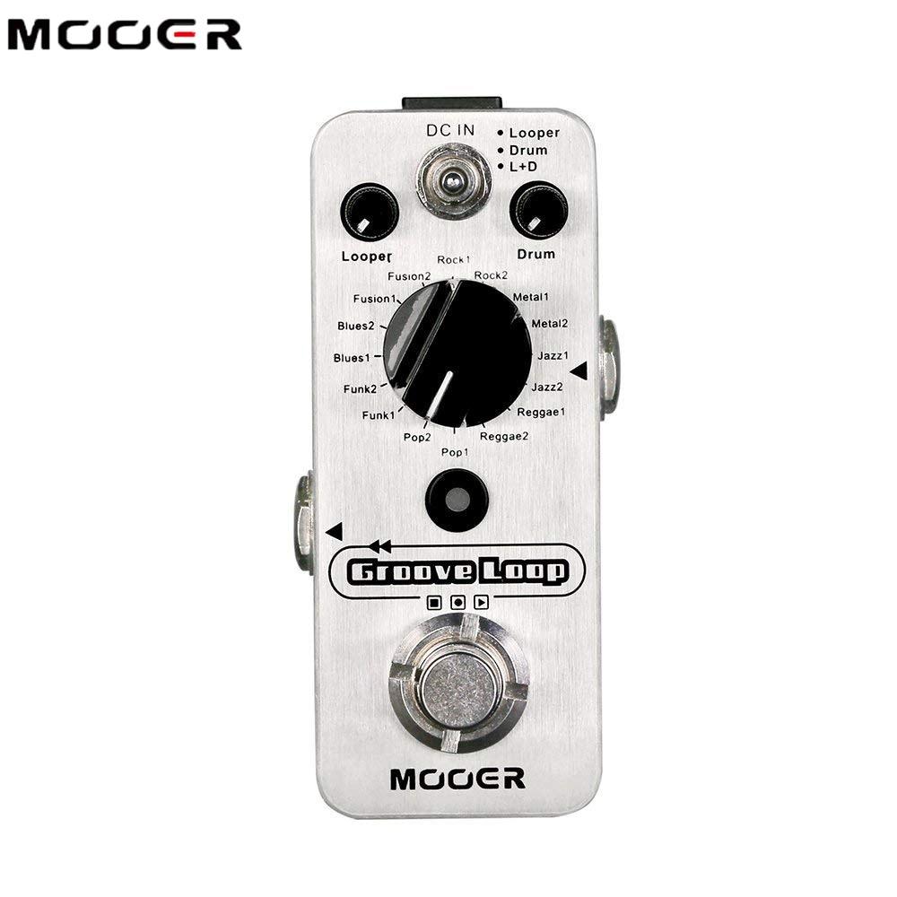 Mooer Groove Loop Drum Machine Guitar Effect Pedal Effector Phrase Loop Drum Machine for Electric Guitar Looper 20 Min Recording enlarge