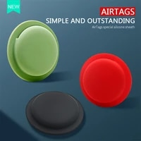 silicone case designed for apple airtags tracker anti lost protective sleeve back adhesive mount soft cover protector