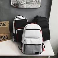 fashion large capacity mens backpack multiple pockets school backpack for teenager trend cool couple backpacks unisex bags