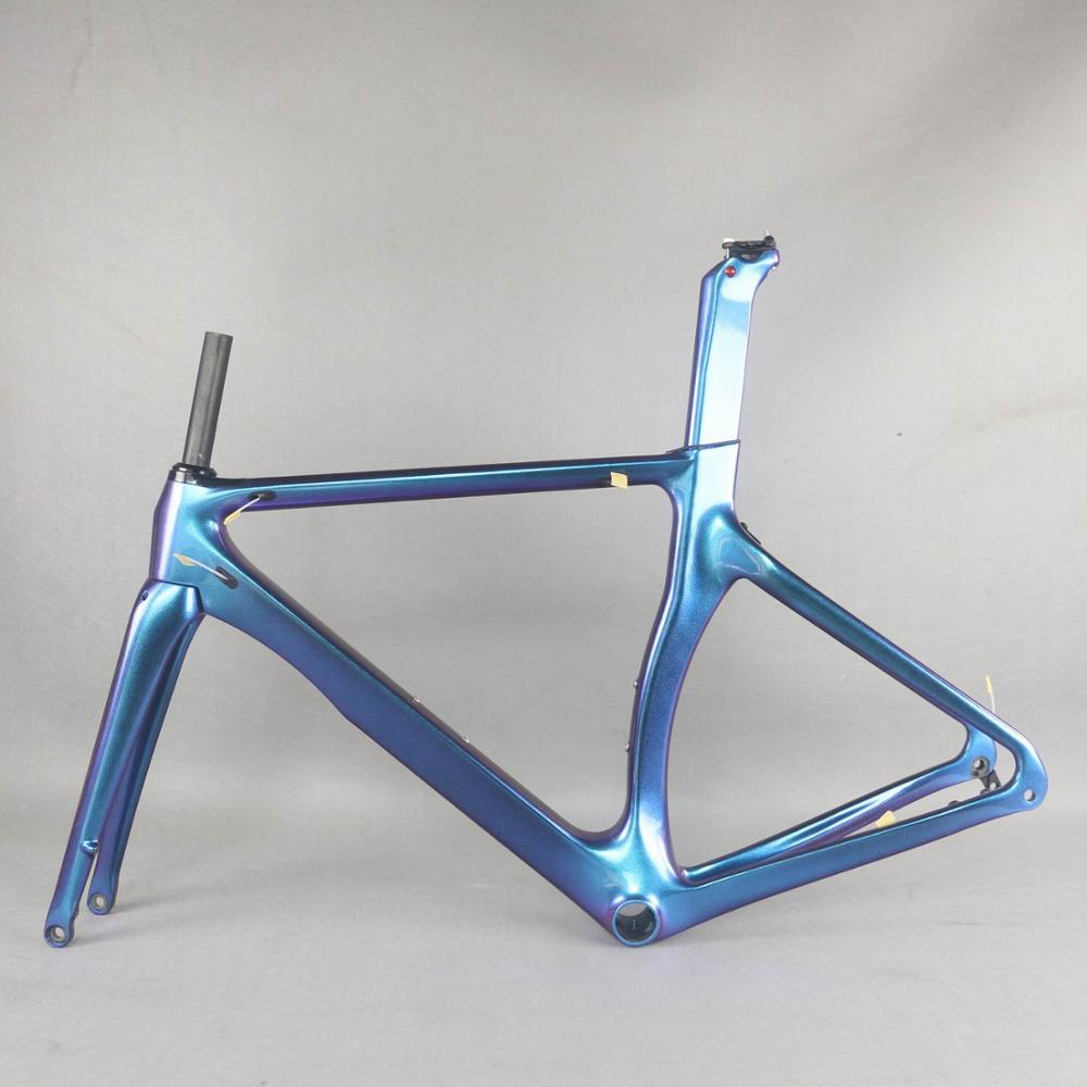 SERAPH camaleón personalizado bicicleta Shenzhen fábrica disco marcos de carbono de carretera sin logotipo