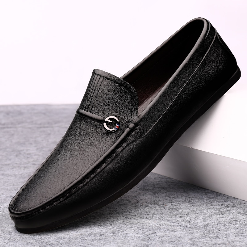 Loafers Men Shoes Leather Genuine Summer Man Moccasin Slip On Shoes Fashion Loafer Shoes Luxury Desi