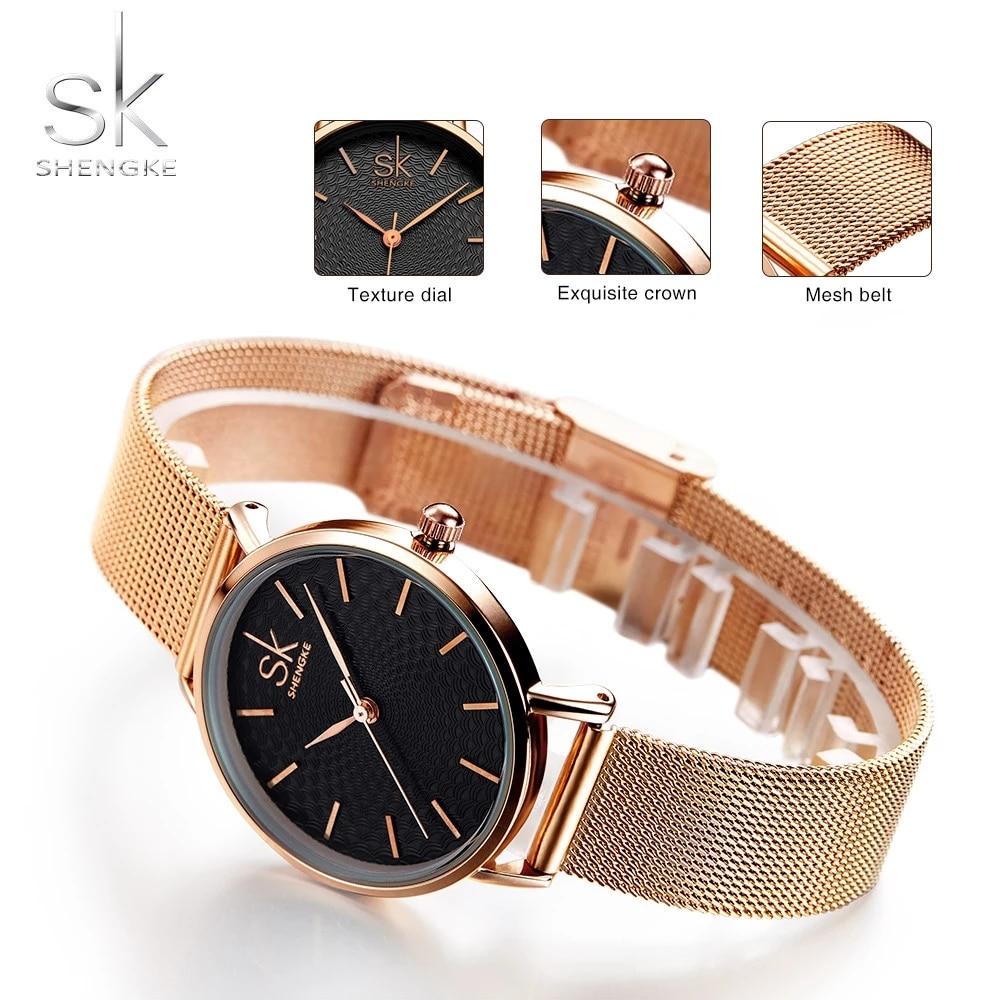 SHENGKE Top Luxury Brand Watches Women Fashion Quartz Watch Waterproof Wristwatches For Lady Clock New Style Relogio Feminino enlarge