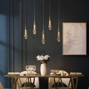 LED Home Dining Room Light Glass Crystal Pendant Lights Living Room Hall Indoor Hanging Kitchen Pendant Lights Indoor Lighting