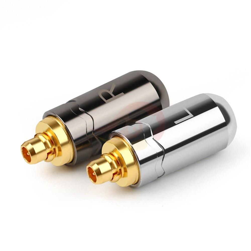 2 пары в партии MMCX контакты для se215 se315 se425 se535 se846 W30 W60 W80 N5005 N30 N40 Hi-Fi наушники кабель адаптер iphone аудио кабель угловой штыревой соединитель Адап...