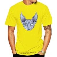 third eye sphynx mens tee funny 100 cotton t shirt discount hot new tshirt harajuku summer 2020 tshirt streetwear