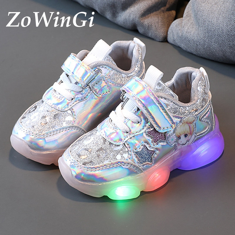 Size 22-30 Children Glowing Shoes Baby Toddler Shoes Soft Bottom Sneakers for Girls Sport Shoes Ligh