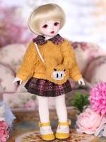 16 scale bjd doll cute kid girl bjdsd resin figure doll model diy toy gift included clothesshoeswig full set a0086carol