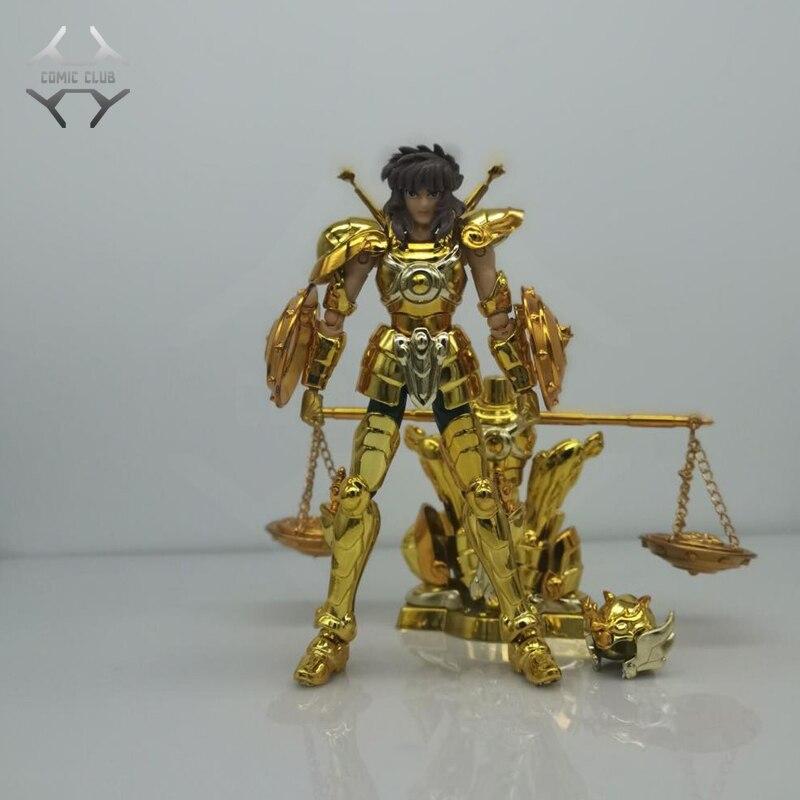 COMIC CLUB en STOCK mini tela myth DDP escala 100mm EX gold saint libra Dohko con objeto armadura metal figura de acción juguete