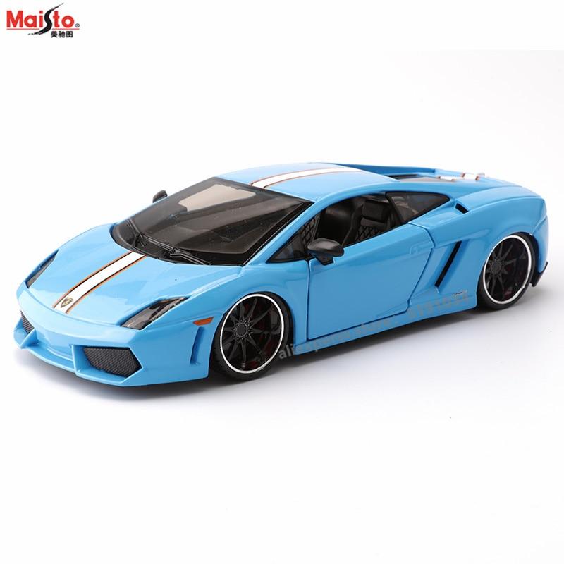 Maisto 124 lamborghini gallardo liga conversível modelo de carro simulação carro decoração coleção presente brinquedo
