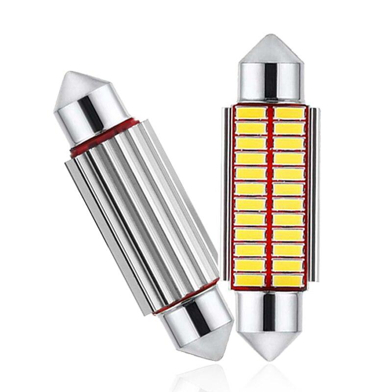 1x C5W bombilla LED de coche CANBUS Interior guirnalda de luz LED 12V Super brillante Auto lectura licencia maletero equipaje lámpara 31mm 36mm 39mm