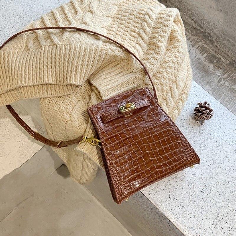 Pequeno de Alta Bolsa Feminina Designer Qualidade Crocodilo Padrão Vintage Crossbody Senhoras Festa Moda Marca Bolsas Ombro