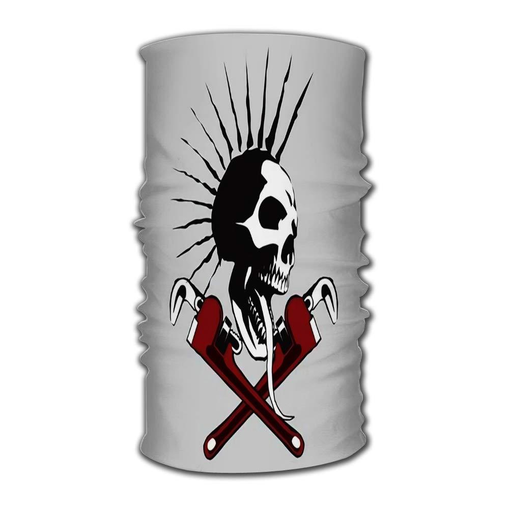 Diadema de cráneo malvado con llave de tubo, herramienta de secado rápido, tocado de microfibra, Bandana mágica para exteriores, banda para cuello, banda para cabeza envolvente
