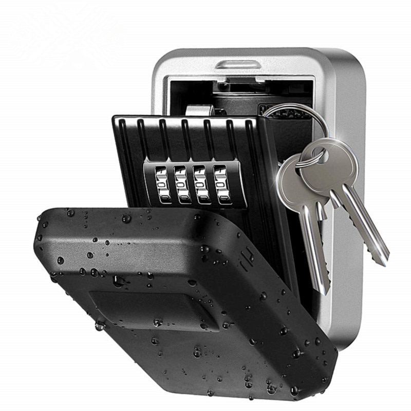 Outdoor Key Safe Lock Box Wall Mounted Password Box Safe Box Weatherproof Key Storage Lock Box Lock Hidden Keys Storage Box недорого