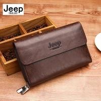 jeep buluo men clutch bags large capacity men wallets pu leather long unisex purse male multifunction wallet passport cover
