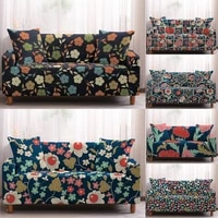 small floral printed sofa covers for living room elastic stretch slipcover sectional corner sofa couch covers 1234 seater