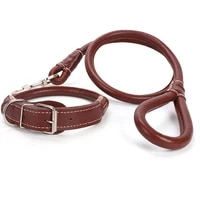 new pu leather dog collar and leash set for medium large dogs harness collars leash leads leather durable puppy rope accessories