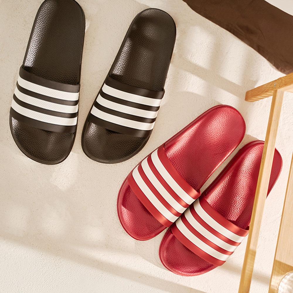 Lizeruee zapatillas a rayas Unisex verano antideslizantes zapatillas de baño pareja casa chanclas moda playa sandalias ME528