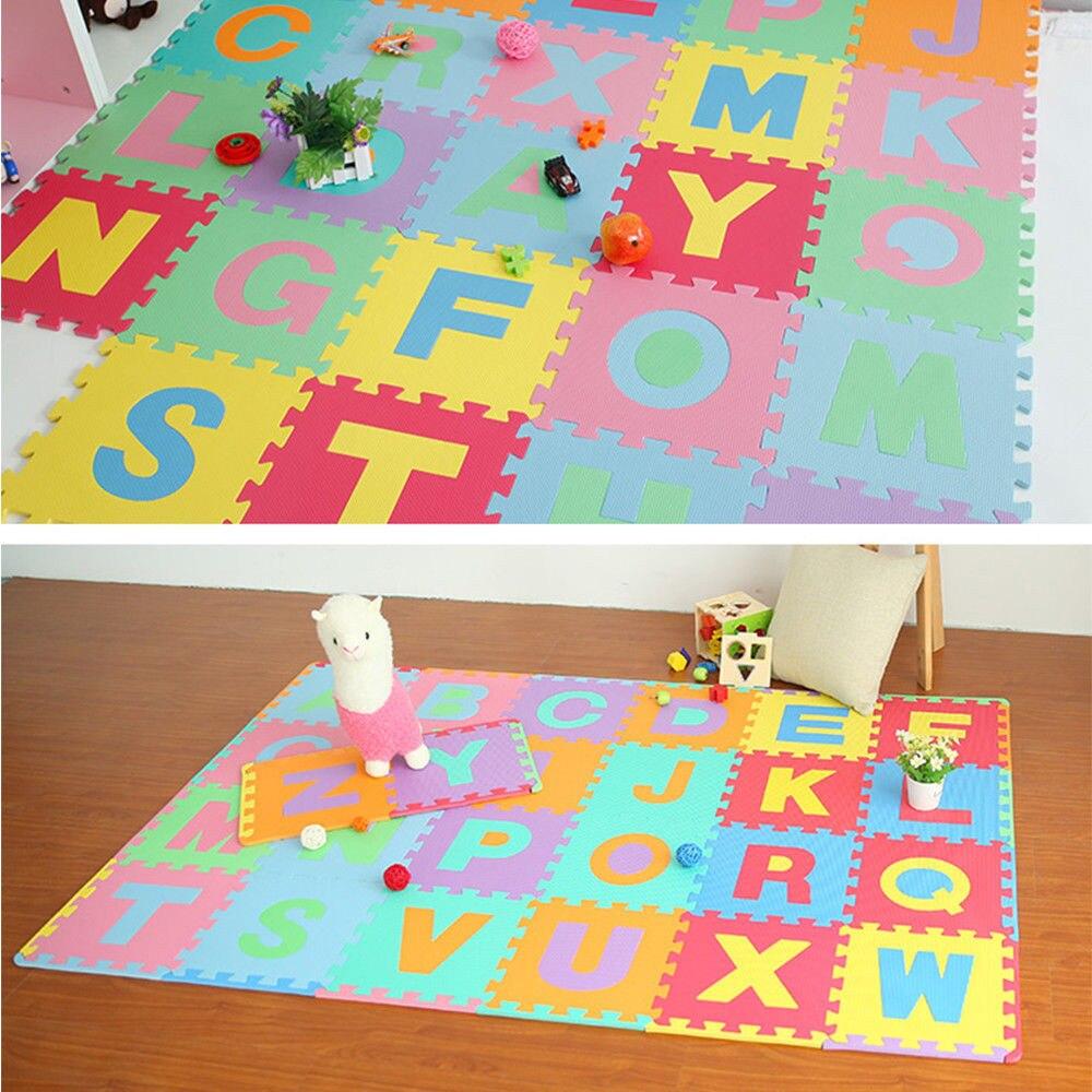 Puzle 3D de 36 Uds., minipuzle de espuma EVA con letras del alfabeto y números, alfombra suave para bebé, puzle 3D, juguetes educativos para Niños # YL10