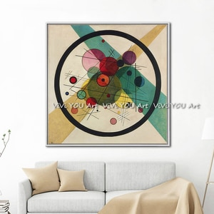 handmade Surrealism Wassily Kandinsky Canvas Art Oil Painting Modern Home Decor Picture Wall Pictures For Living Room No Frame