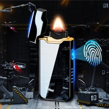 New Creative Arc flame USB Lighter  Charging Cigarette Lighter Cigar Lighters Plasma Flame Electroni