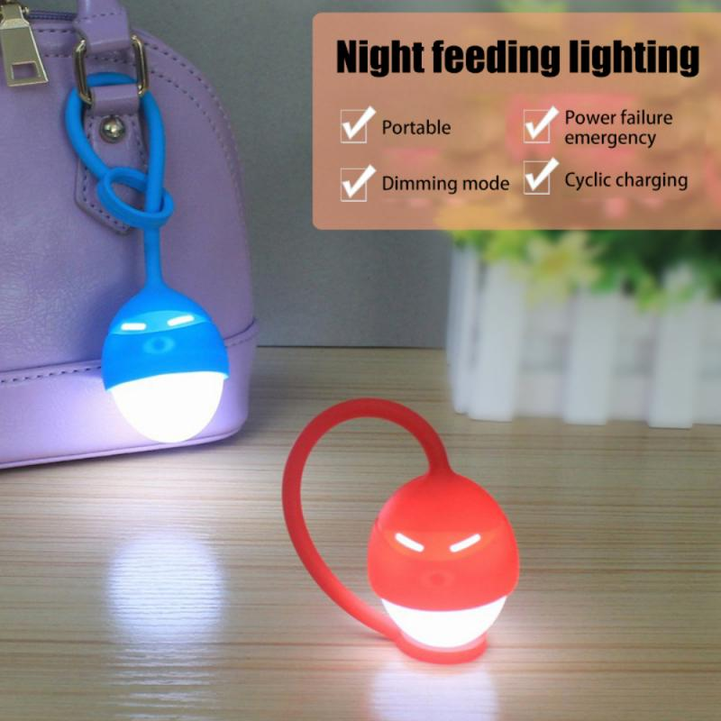 Силиконовый ночник, светодиодный прикроватный светильник для спальни, шкафа, с зарядкой от Usb, предупреждасветильник льник, Велоспорт, кемп...