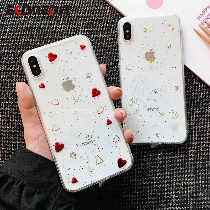 EKONEDA блестящий чехол для iPhone X XS Max XR 11 Pro Max 6 6S 7 8 Plus силиконовый чехол с кристаллами