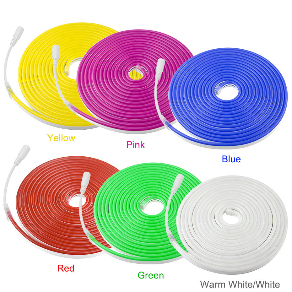 Suave Flexible de luz Led tira de luz 12V impermeable IP67 signo de neón Led cinta para fiesta de Navidad de la decoración del hogar