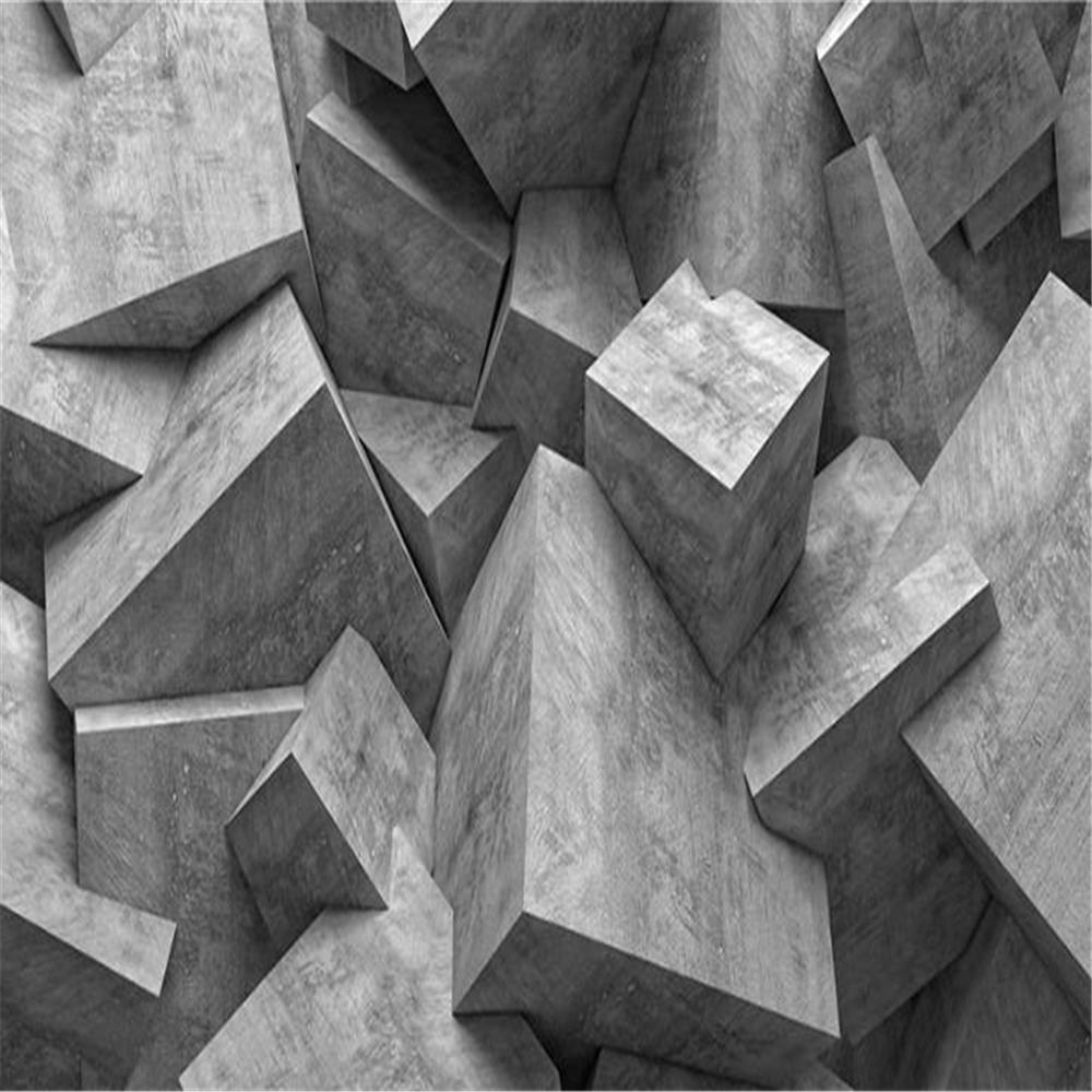 Papel tapiz 3d para paredes 3 d para sala de estar pared de fondo de televisión abstracta geométrica sólida