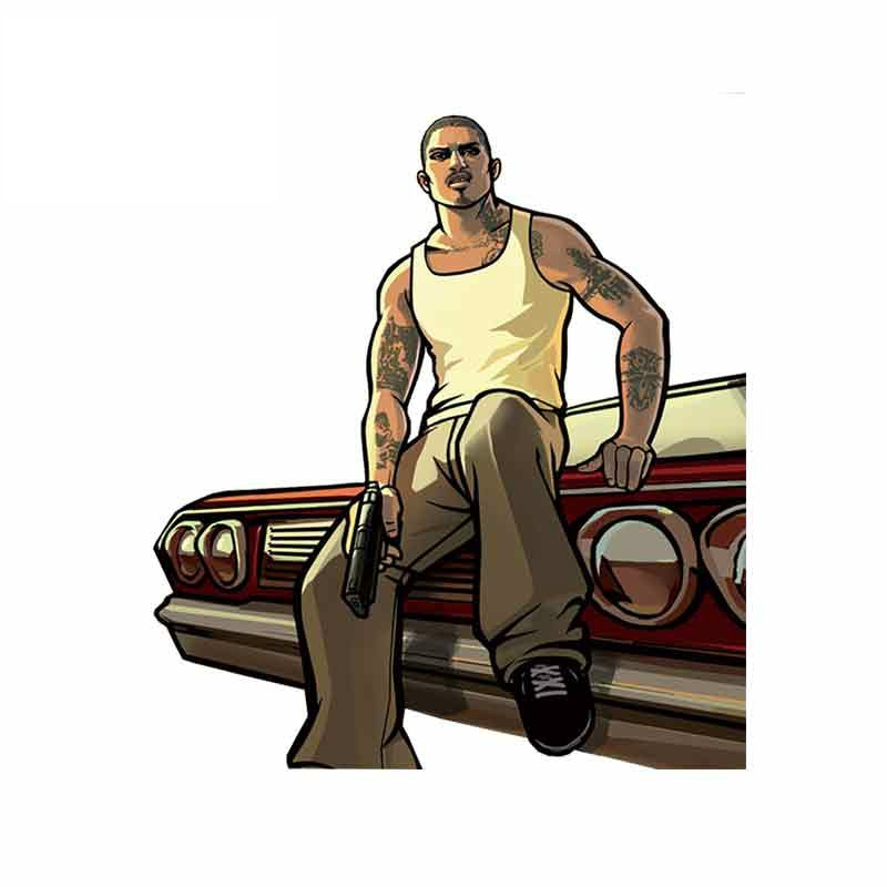 Cartoon Gta San Andreas Car Sticker Vinyl Auto Accessories Car Window Car Styling Decal  PVC Cover Scratches Apply To Car Window