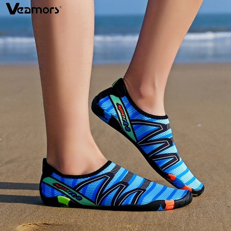 VEAMORS Men Women Aqua Shoes Quick Dry Swim Water Sneakers Lover Upstream Lightweight Flat Shoes Outdoor Slip-on Beach Sneakers
