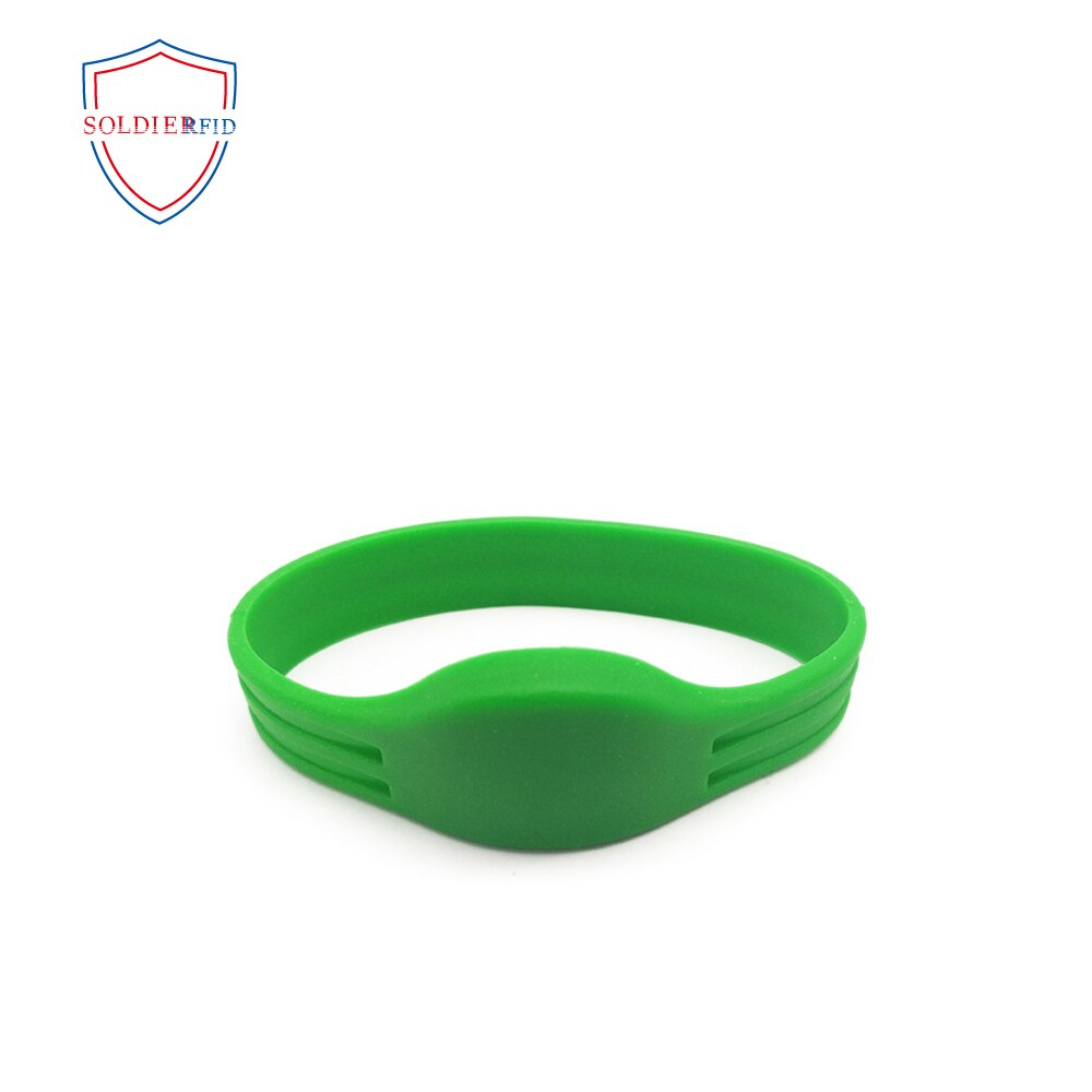 100pcs Waterproof Silicone 13.56MHZ FM11RF08 Wristband  RFID Bracelet For Door Access enlarge