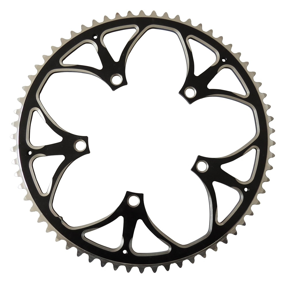 Rueda de cadena TRUYOU 130 BCD 65T aleación de aluminio CNC bicicleta de carretera platos y bielas con cadenas bicicletas plegables Chainwheel negro placa única