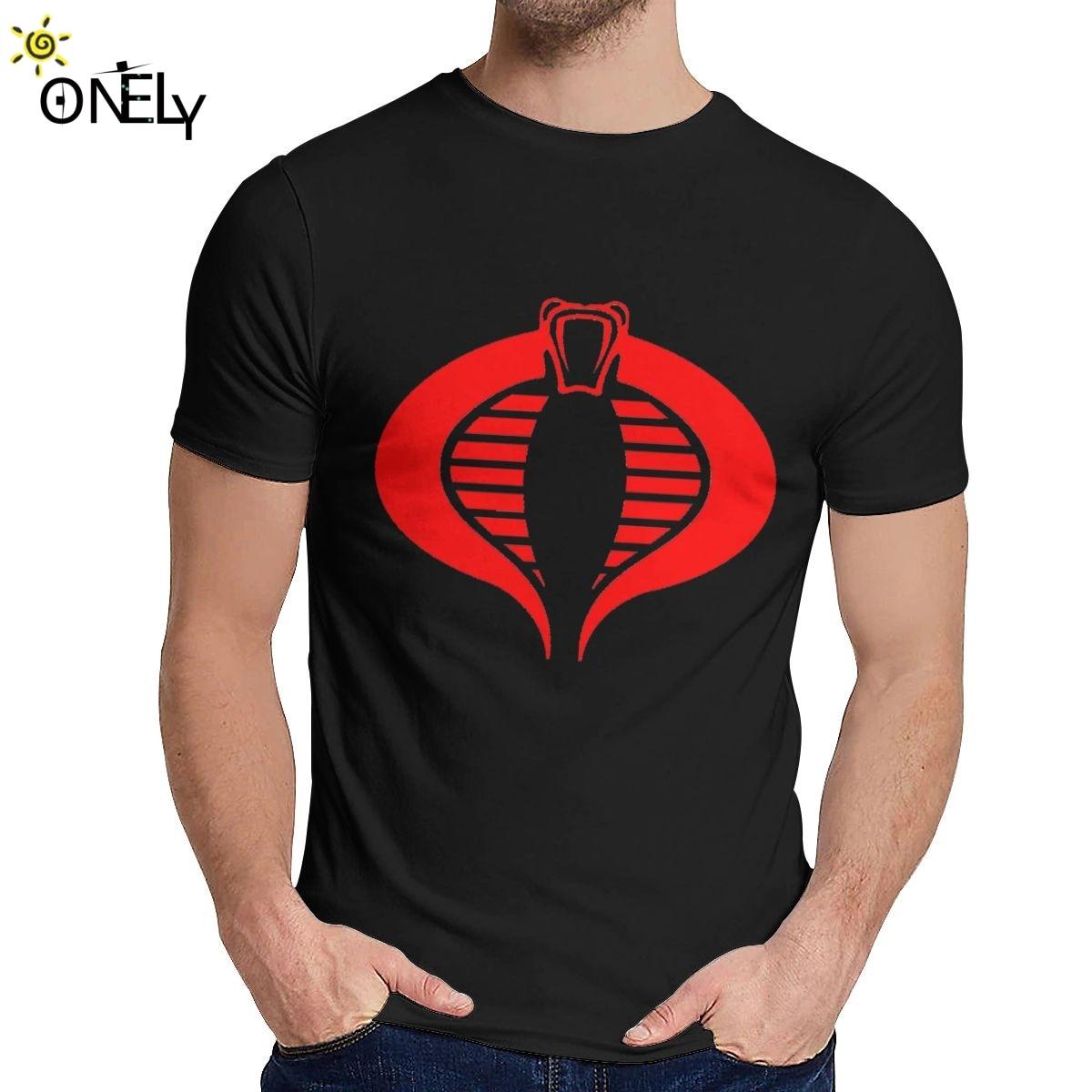 Круглый воротник Кобра GI JOE спецназ короткий рукав лето для мужчин 100% хлопок Homme футболка большой размер