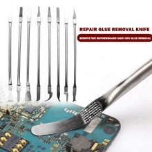 8in 1 Ic Chip Repair Tools Cpu Metal Burin Remover Tools for Mobile Phone Computer Cpu Nand Ic Chip
