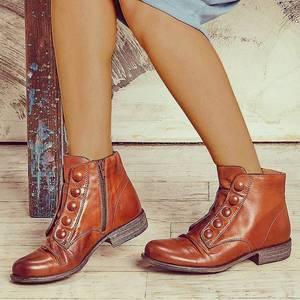 Ботинки женские однотонные на молнии, модные короткие сапоги из искусственной кожи, на квадратном каблуке, зимняя обувь, роскошные брендовые ботинки челси