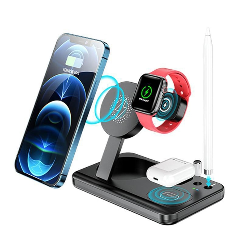 Foldable Wireless Charging Station Multi-function Charger for Smart Watch Phone 23GC