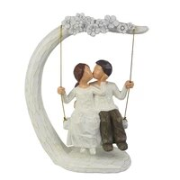 romantic couple figurines in love 9inch hand painted sweet loving together couple sculpture to remember beautiful moment