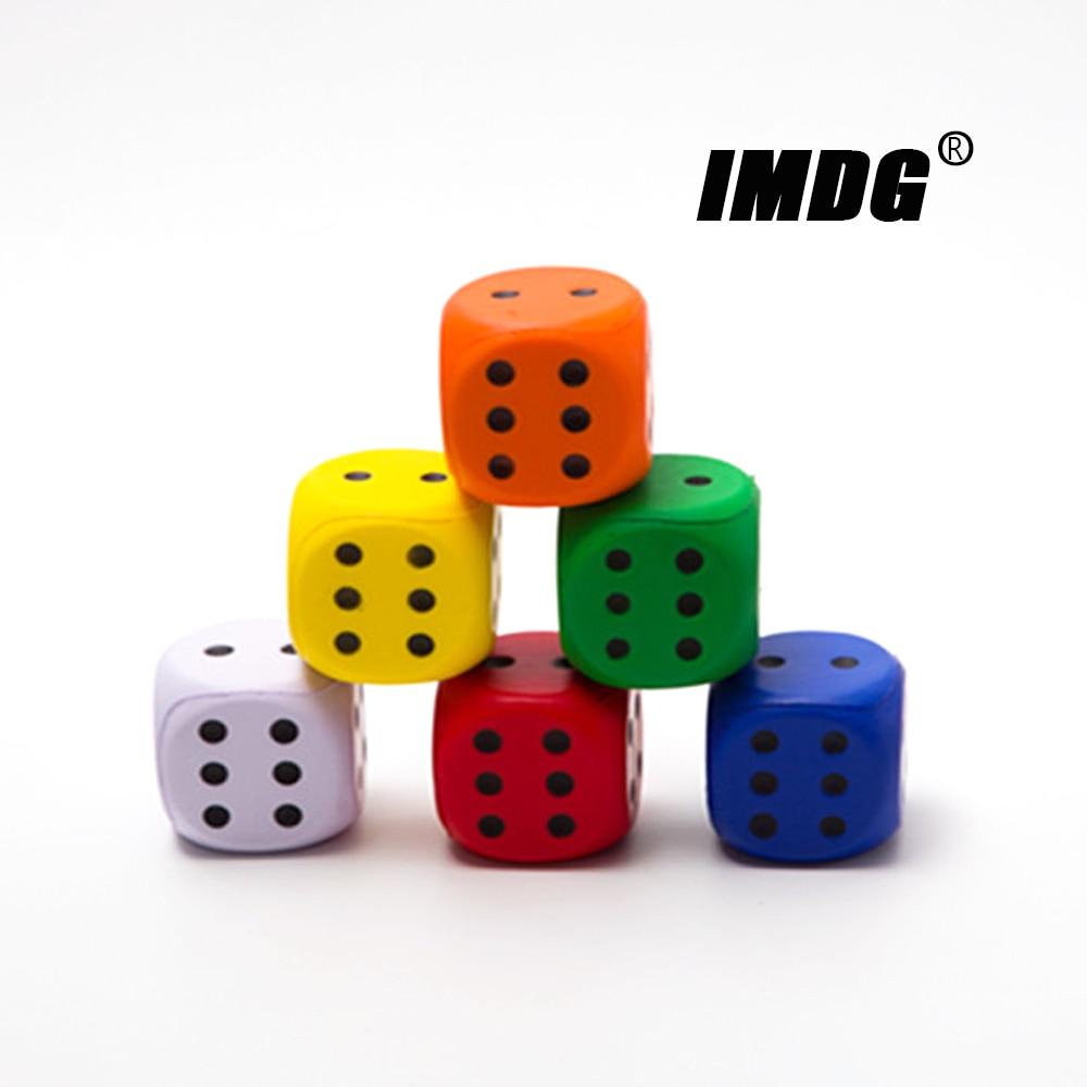 2 шт./упак. губчатые Кубики 6 см большого размера Цветные Кубики Твердые в точку закругленные игрушки развлекательные игровые кубики