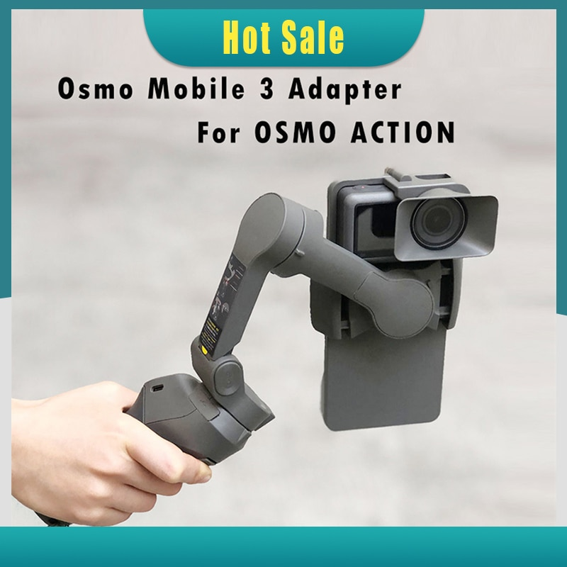 Portable Handheld Adapter Camera Mount Holder for DJI OSMO Mobile 3 to for OSMO Action Camera Gimbal