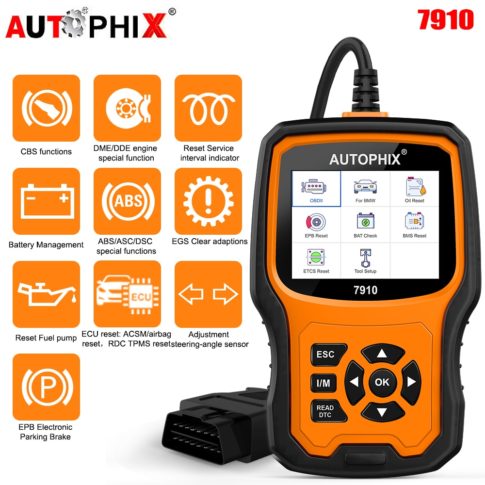Autophix 7910 For BMW OBD2 Scanner Oil Service EPB SAS Airbag TPMS Reset OBD2 Diagnostic Tool For BMW OBD 2 Automotive Scanner