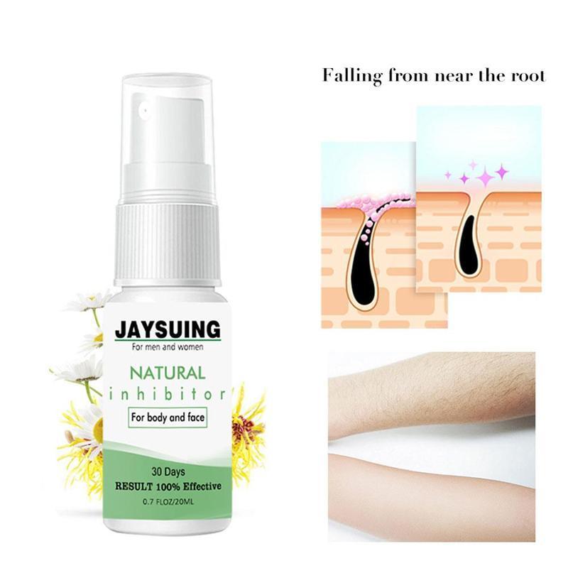 30g Powerful Permanent Painless Hair Removal Spray Stop Hair Growth Hair Inhibitor Shrink Pores Skin Smooth Repair Essence Spray