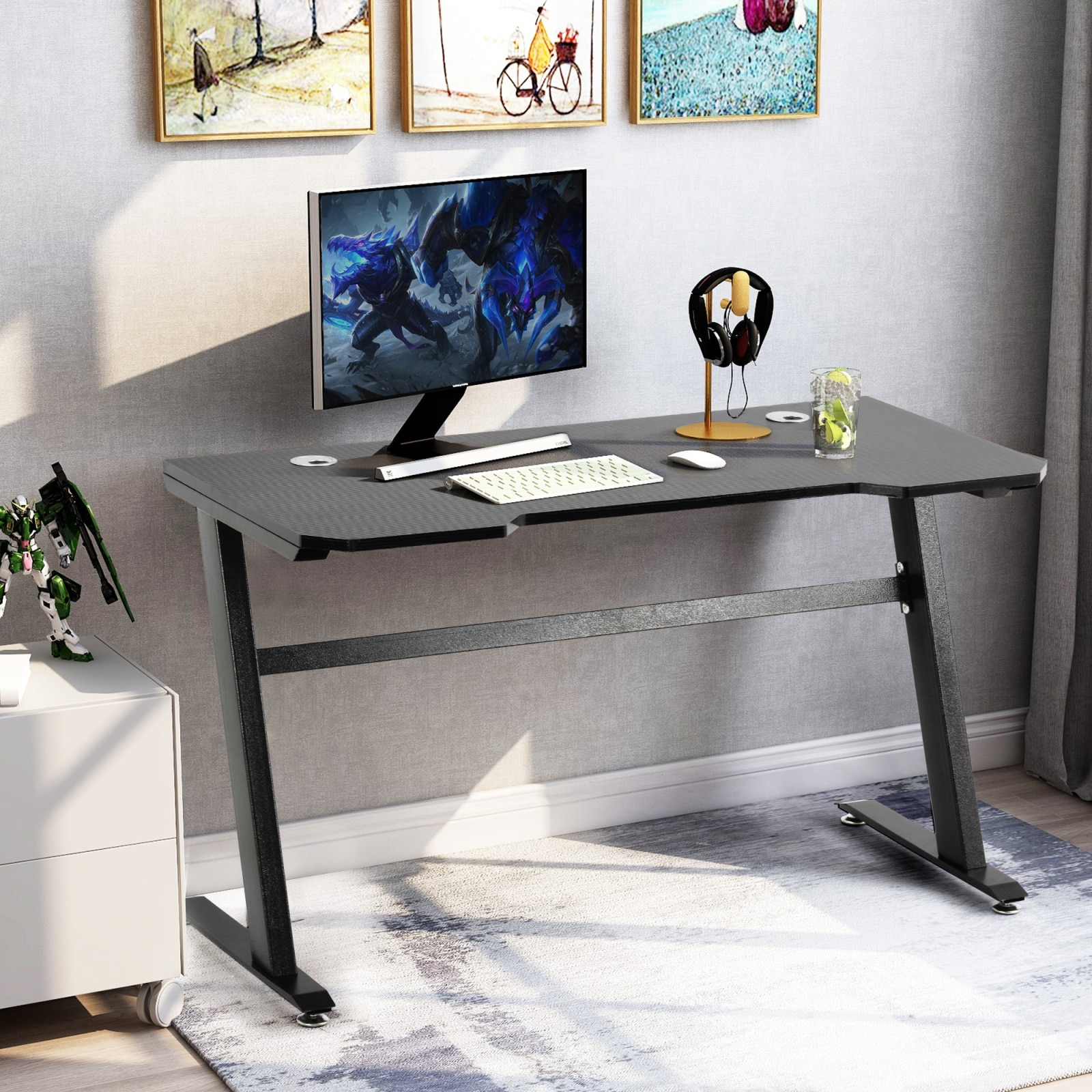 Gaming Desk E-sports Computer Table PC Gamer Tables Workstation Home Office Furniture