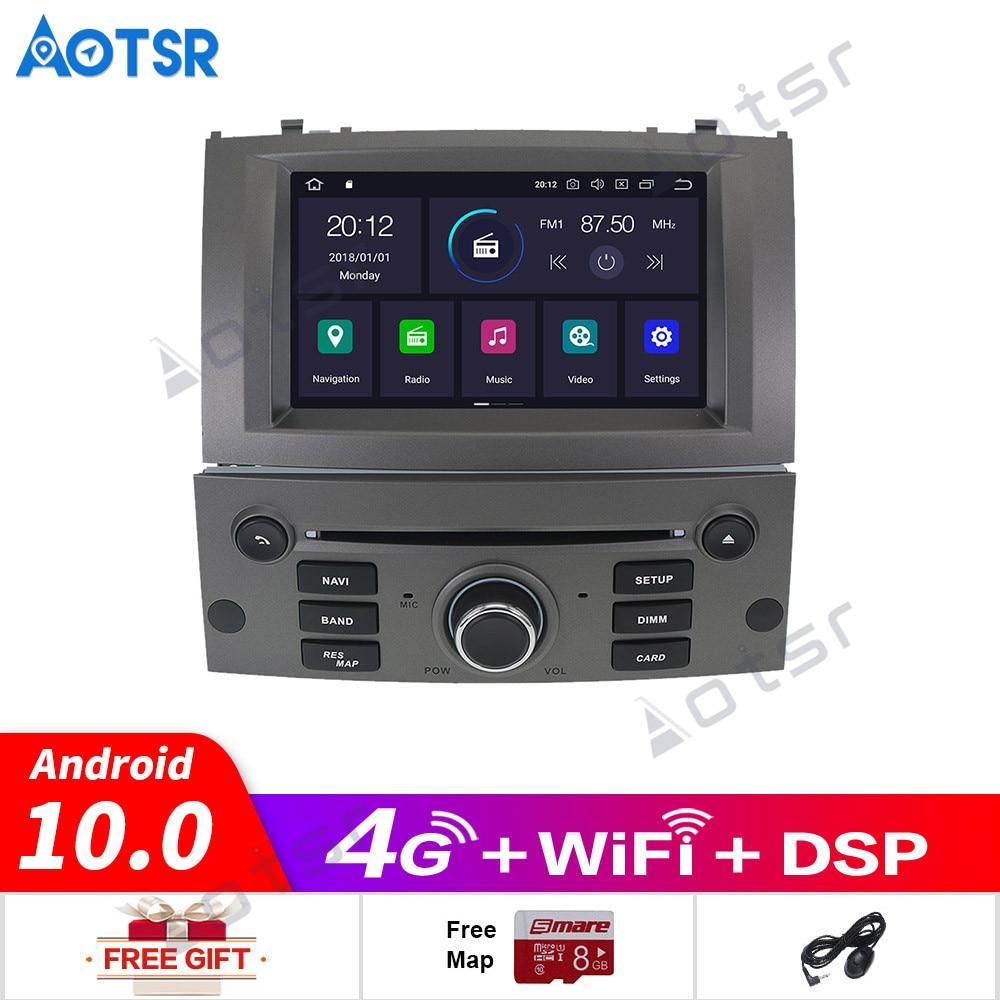 Android10.0 reproductor de DVD del coche GPS Glonass de navegación para Peugeot 407 Peugeot 2004-2010 4GB RAM 64GB ROM Multimedia Radio estéreo DSP headuni