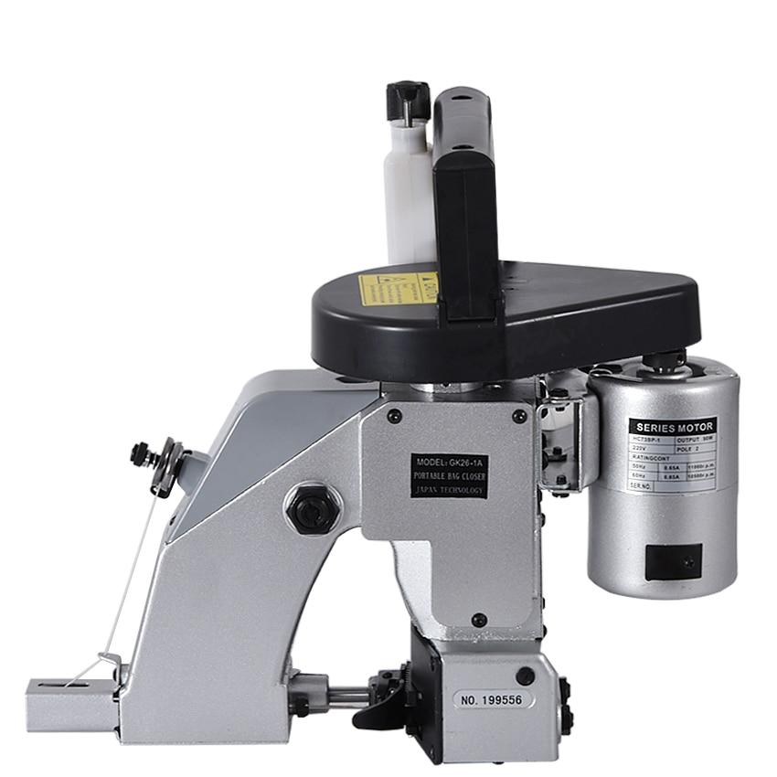 Máquina de coser eléctrica Industrial, juego de máquinas de sellado automático, máquina de coser con cierre de bolsa, herramientas textiles portátiles para el hogar de 220V