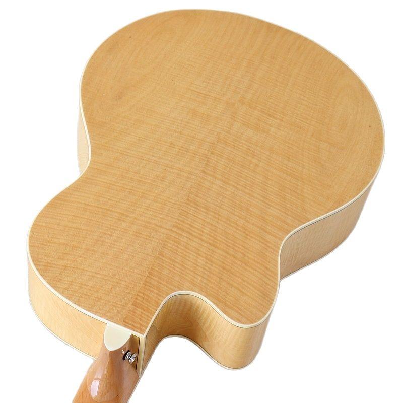 Flame Maple 12 Strings Electric Acoustic Guitar Glossy Nstural Color Cutaway Design Folk Guitar Wood Guitar with Guitar Pickup enlarge