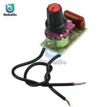 Interrupteur de réglage de Module de gradateur   Lampe 100w avec commutateur de potentiomètre WH149 500k capacité 630V CBB