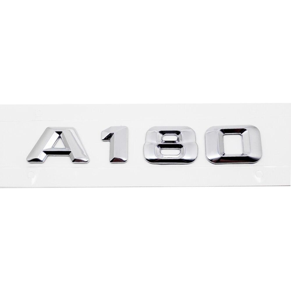 Para Mercedes Benz Clase A W204 W203 W211 W210 W212 W205 Cla Gla Glc Glk W168 W169 W176 A180 insignia emblema letras maletero trasero